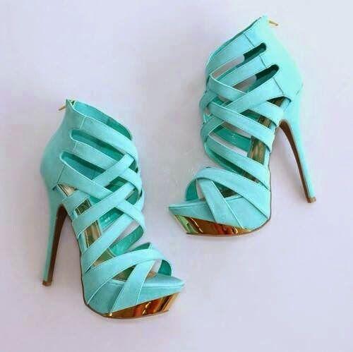 Turkuaz Topuklu Ayakkabı Modelleri