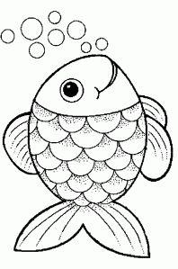 afbeeldingsresultaat voor vis kleurplaat the rainbow