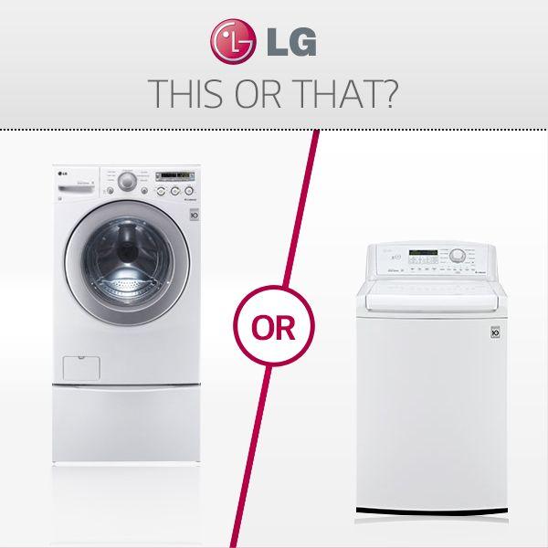 Carica frontale o dall'alto? Quale preferisci? #LG