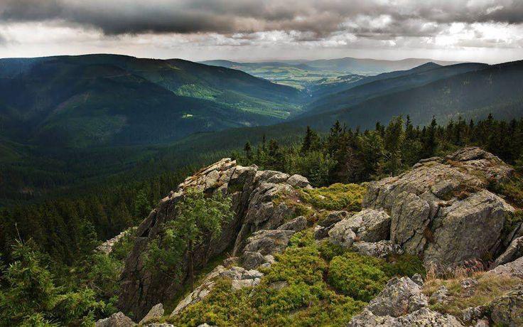 Swallow rocks (Jaskolcze skaly) under Snieznik mountain