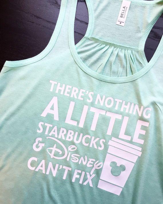 Starbucks and Disney // Disneyland Tank // by FelixandFrazzled