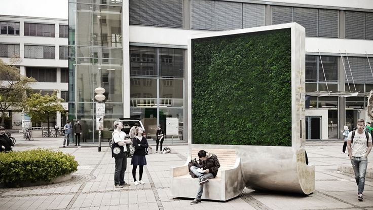 "University friends from Germany have created a ""CityTree,"" which filters toxic pollutants from the air with the power of moss."