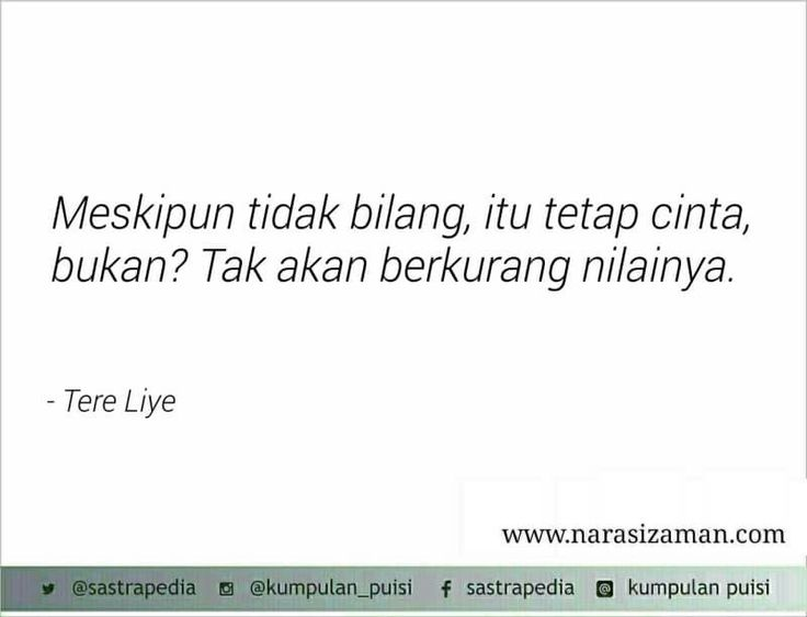 Sajak by Tere Liye