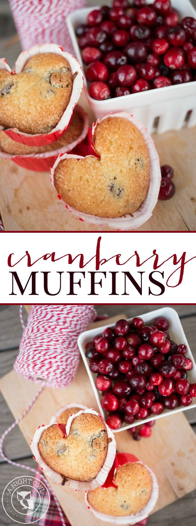 These delicious and Easy Cranberry Muffins are perfect for breakfast or a sweet afternoon treat!
