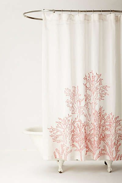 Anthropologie - Climbing Coral Shower Curtain