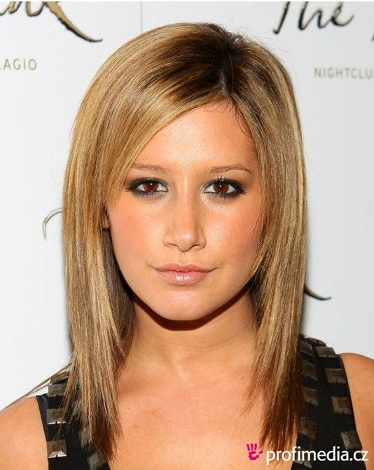 2014 Medium Straight Haircut: Ashley Tisdale Hair... Since I also have that thin hair and face shape its worth a look for the next hair cut
