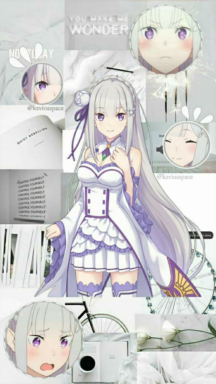 Emilia Re Zero Wallpaper Aesthetic Di 2020 Gambar Anime Gambar