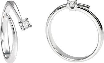 Anelli solitari in oro bianco 18 carati con diamante