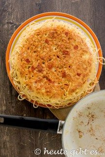 Frittata di spaghetti – eine leckere Resteverwertung für Nudeln