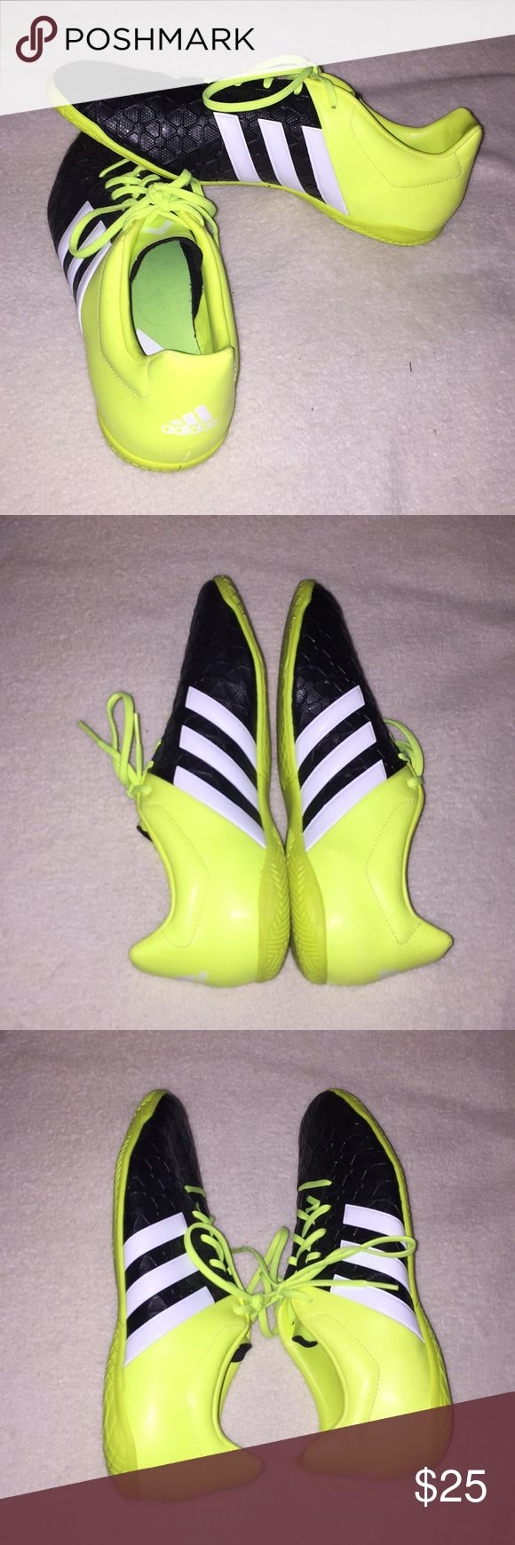 Adidas indoor soccer shoes Male size 9.5 indoor soccer shoes. Only used twice! Like new condition. Run small. adidas Shoes Athletic Shoes