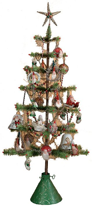 Antique Christmas Trees   the tree feather trees were popular from the 1920s through