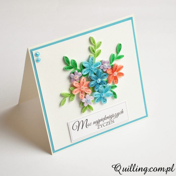 quilling, husking, handmade, DIY, craft, greeting card, paperart, birthday, quilling.com.pl