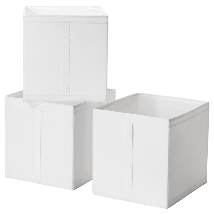"Hat and purse storage. Store in cubbies for stacking. SKUBB Box - white - IKEA 12+"" x 13+""  x 13"". ~KG"