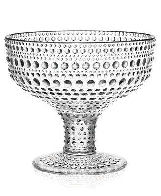 Iittala Kastehelmi Clear Footed Bowl
