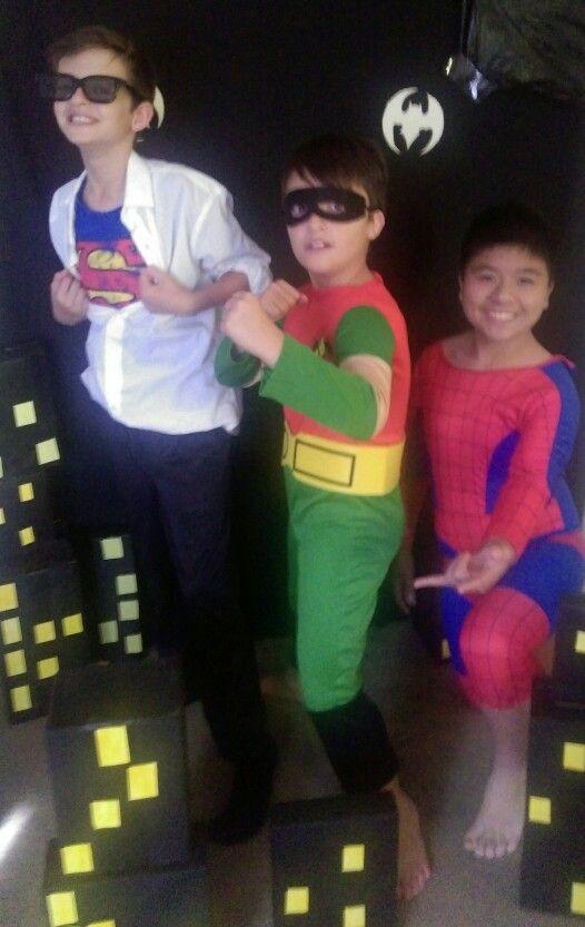 Super hero birthday party. #clarkekent #robin #spiderman costume ideas