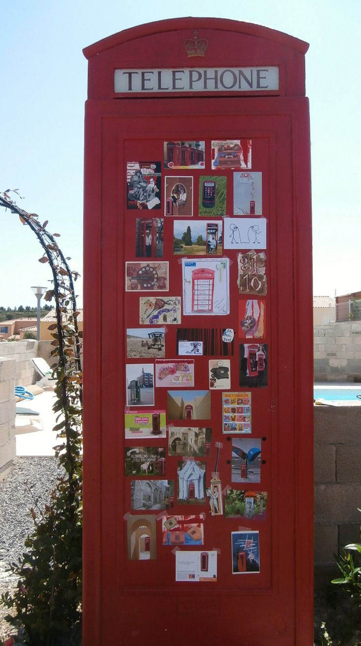 Art Exhibition in a Telephone Box.