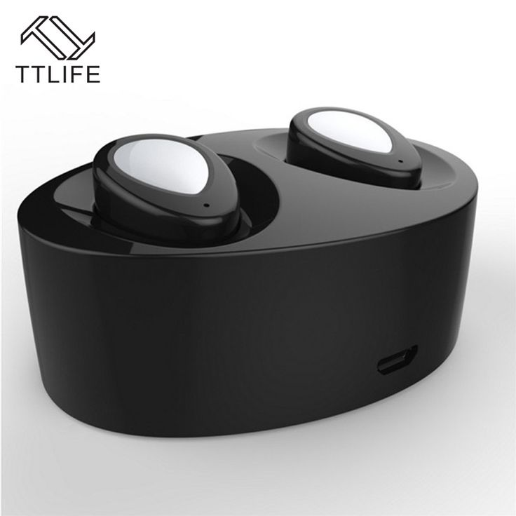 TTLIFE New Twins True Stereo Bluetooth Earphone Headset Wireless Earbuds with Power Bank for Samsung iPhone 6S iPhone 7 Airpods