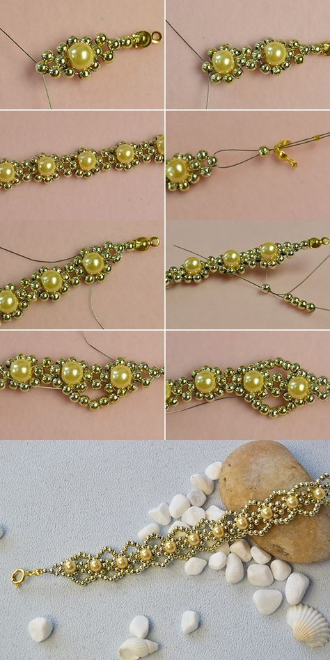 Like the pearl beads bracelet?The tutorial will be released by LC.Pandahall.com