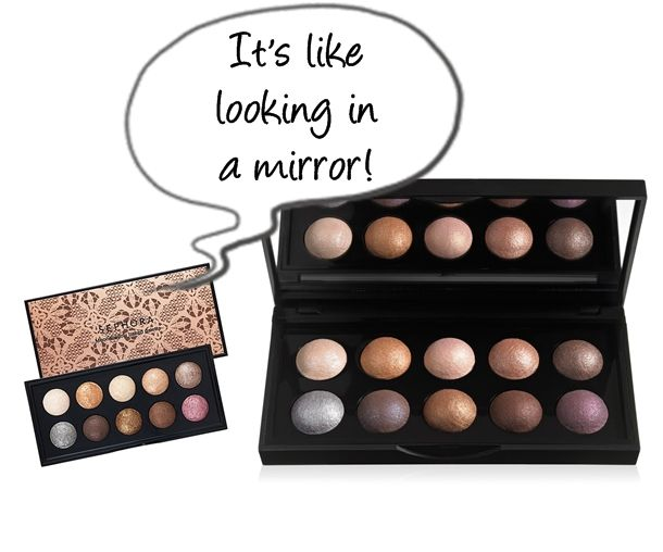 E.L.F. Studio Baked Eyeshadow Palette dupe for Sephora Moonshadow Baked Palette