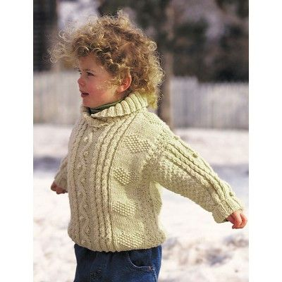 Cables and Hearts Child's Pullover - Knitting Patterns - Patterns | Yarnspirations