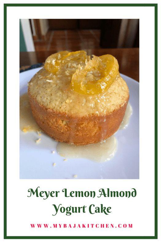 Meyer Lemon Almond Yogurt Cake