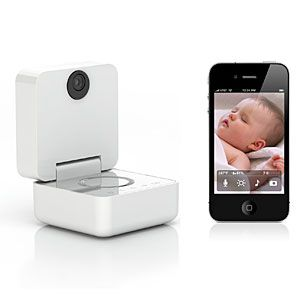 Baby Monitor from anywhere with your iPhone, iPod Touch, or iPad  Texts you alerts for motion, sound, temperature, and humidity  No baby? No problem! This is an amazing webcam, too.