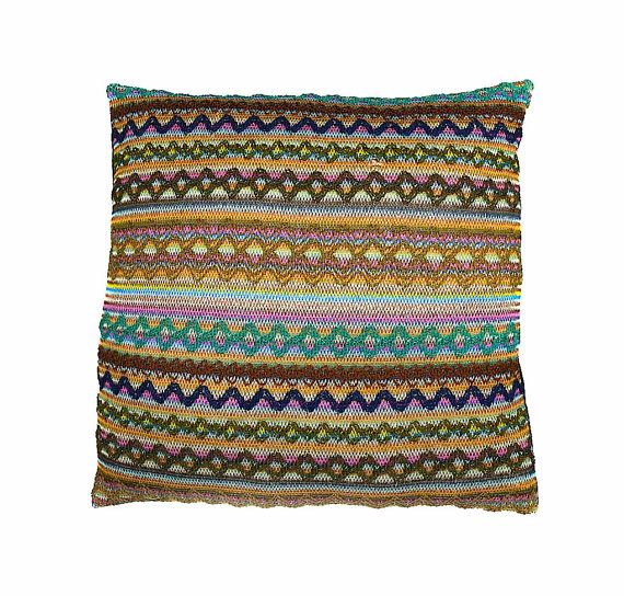Decorative pillow, cushion cover, Aztec diamond weave fabric, throw pillow, multicoloured, home accessories, home decor, cushion, pillow