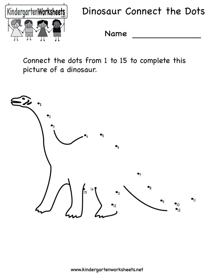 Printables Connect The Dots Worksheets For Kindergarten number worksheets kindergarten counting and dots on pinterest dinosaur connect the printable