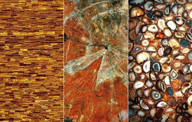 A Tamboré Mármores lança as pedras Brown Agata, Tiger's Eye e Madeira Petrificada, entre outras. A nova coleção traz pedras semipreciosas importadas de diversos lugares do mundo, como Afeganistão, África Central, África do Sul e Austrália