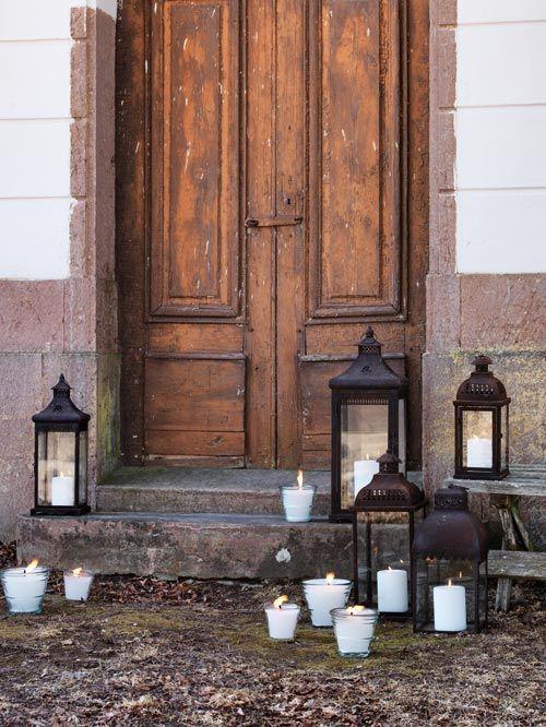 """Faroles """"Rusty"""" y velas como decoración para exterior #Affari #Aw2013"""