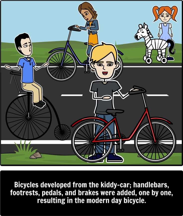 History of Toys - Compare/Contrast: In this activity students will compare and contrast three toys: playing cards, bicycles, and hot wheels. A short summary of the origin of each toy is provided for each of these toys. Here is a close up of bicycles.
