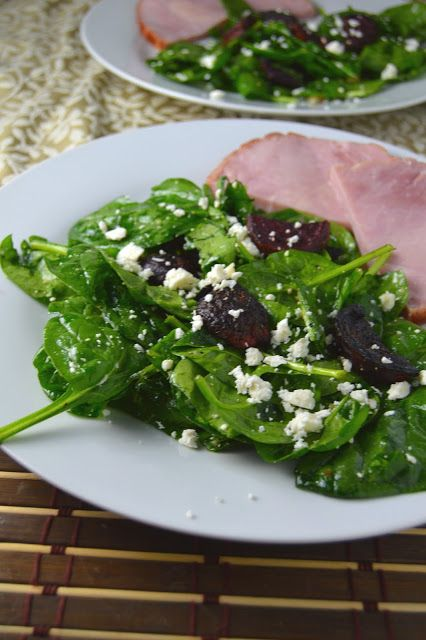 roasted beet and feta spinach salad roasted beets spinach salads ...