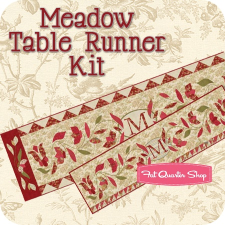 Meadow table runner quilt ideas pinterest fat for Tending the garden blackbird designs