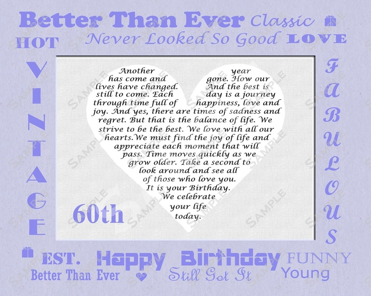 happy 60th birthday poem | just b.CAUSE
