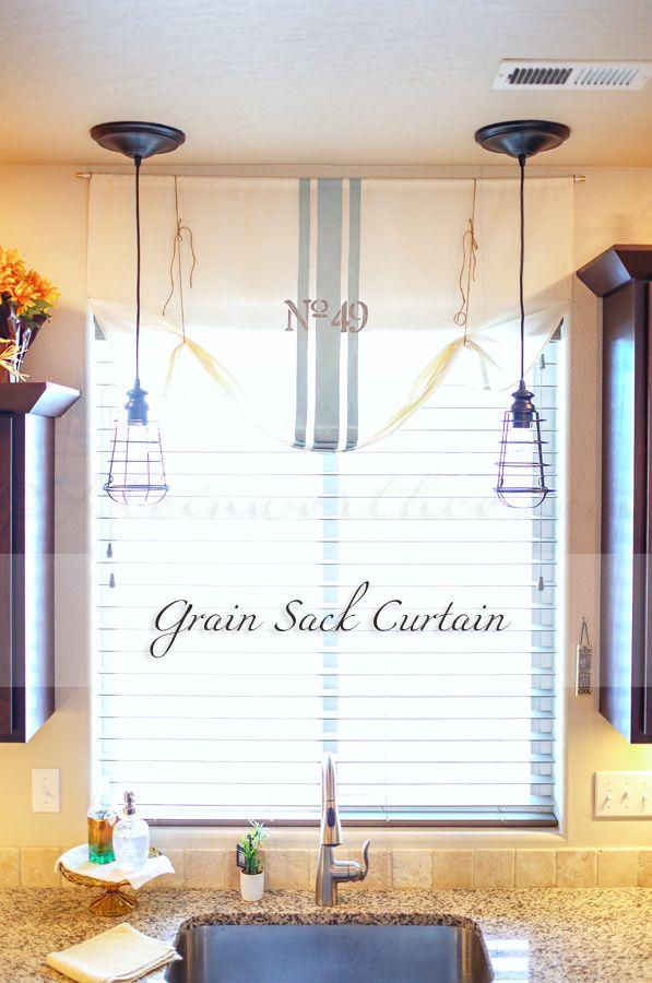 Grain Sack Curtain