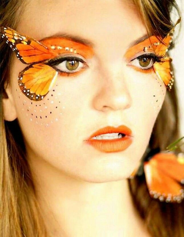 Love love love this butterfly Halloween makeup