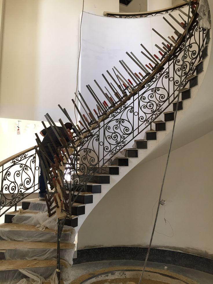 Wood Handrail shaping