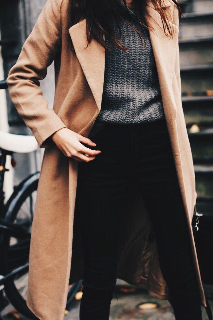 {Camel coat.}