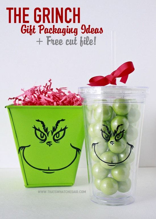 See how easy it is to use the Trace feature in silhouette software to make The Grinch Gift Packaging ideas + free cut file!