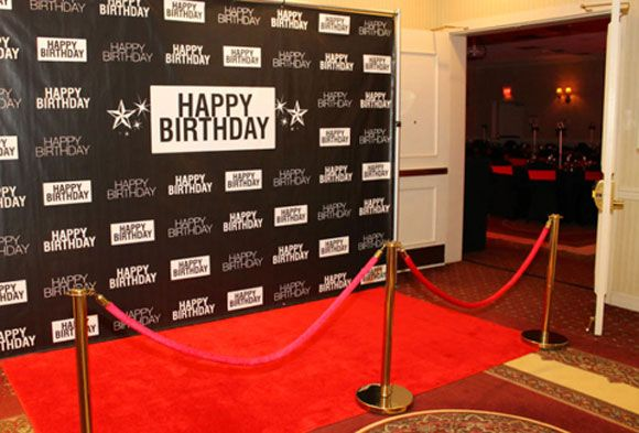Set Up A step And Repeat Banner Red Carpet For Truly