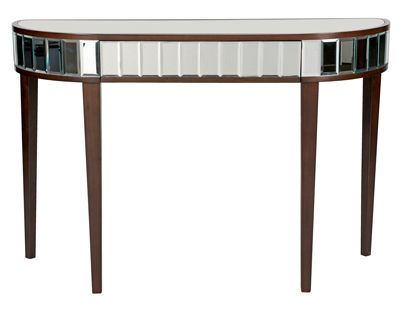 Capri Console Table - either hang a big photo frame or a fancy mirror above it