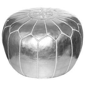 hardtofind. | Silver Moroccan ottoman cover