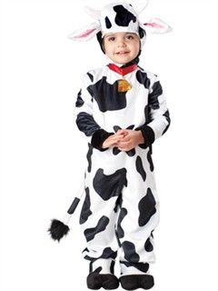 Toddler Cow Costume..for christmas production at school