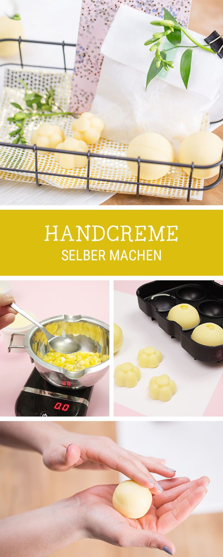 Handcreme selbermachen: DIY für selbstgemachte Creme als Geschenkidee, organische Kosmetik / handmade organic cosmetic: diy tutorial for homemade hand cream via DaWanda.com – Kibbee Chan
