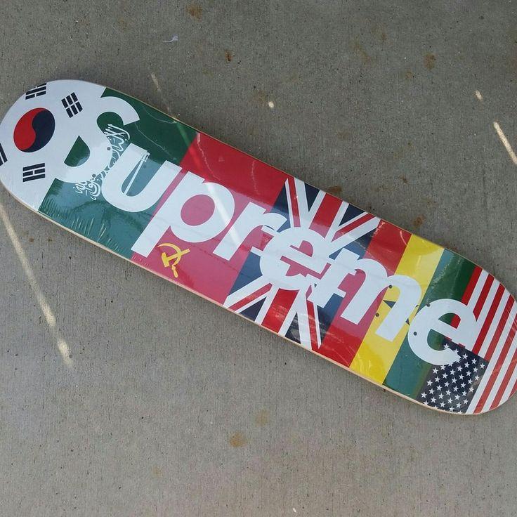 New Supreme Flag Skateboard Deck International  Flags #Supreme #skateboard #deck