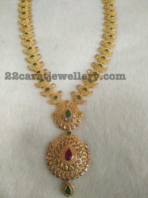 Uncut Diamond Mango Mala - Jewellery Designs