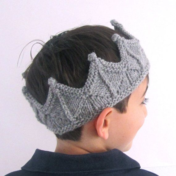 Silver Gray Knight Crown Headband Boy Crown for by laceandcable