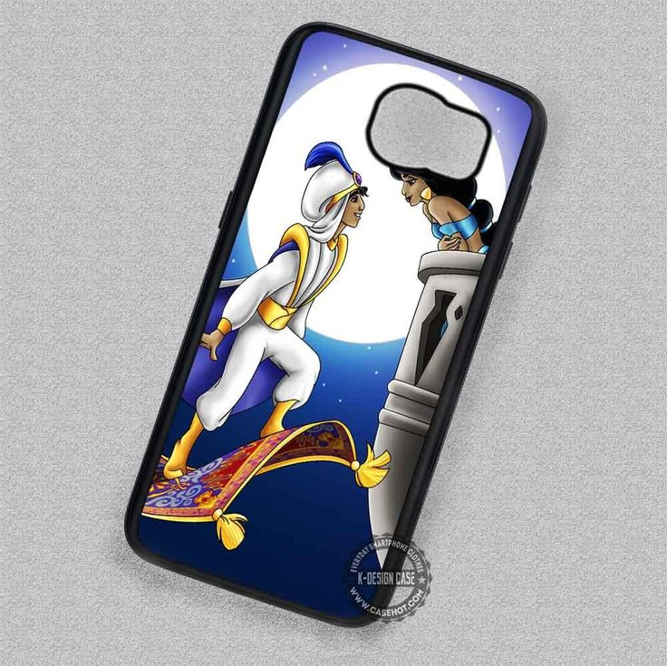 The Full Moon Aladdin and Jasmine - Samsung Galaxy S7 S6 S5 Note 7 Cases & Covers