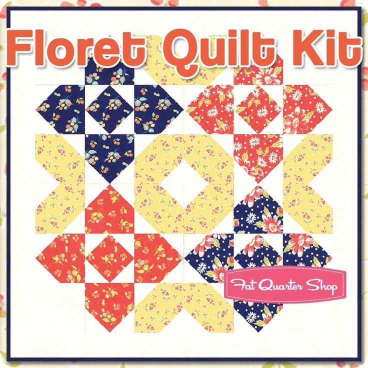 フィグツリーキルトによってコニーアイランドを搭載小花キルトキット|  ファットクォーターショップ