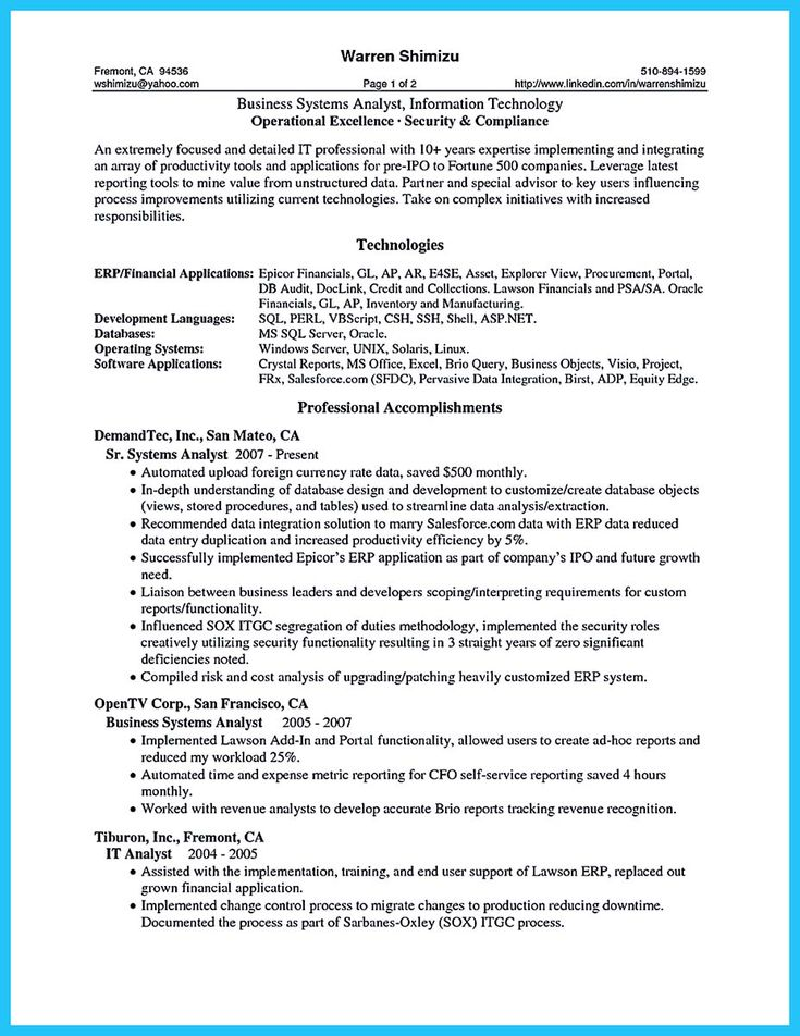 Data Architect Resume Cover Letter - business architect resume